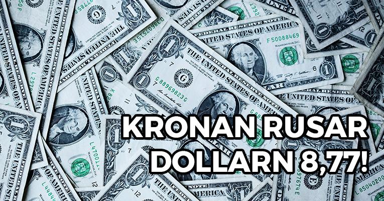 Dollarkursen nere i 8,77 – hur ska jag agera?